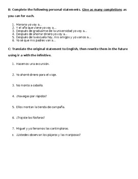 Simple Future Worksheet
