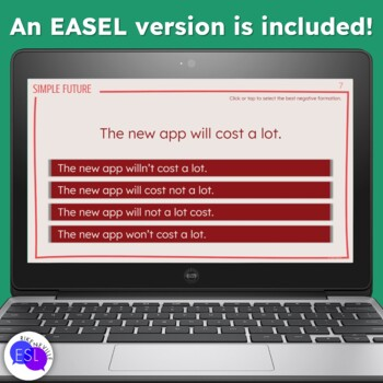 Simple Future Task Cards for Secondary to Adult Students