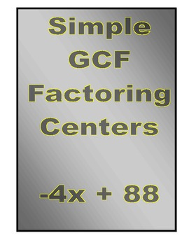 Simple GCF Factoring Centers