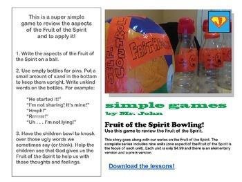 Simple Games: Fruit of the Spirit Bowling