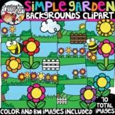Simple Garden Clipart {Backgrounds Clipart}