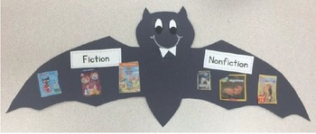 Simple Genre Sort Bat Craft/Bulletin Board