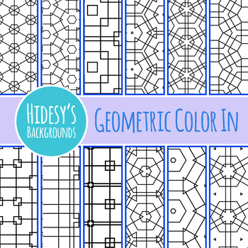 Simple Geometric Color In Backgrouds / Digital Papers Clip Art Commercial Use