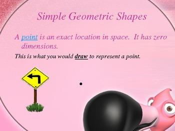 Simple Geometric Shapes -  Animated Power Point