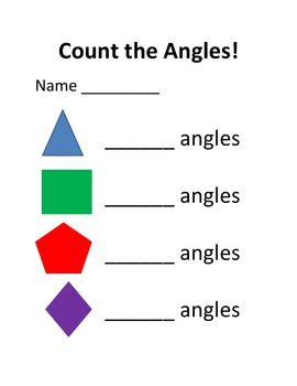 Simple Geometry Count the Angles and the Sides of Shapes in Microsoft Word