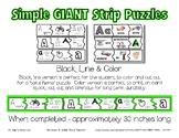 Simple Giant Strip Puzzles - Alphabet Bundle - Preschool D