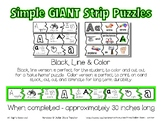 Simple Giant Strip Puzzles - Alphabet Bundle - Preschool D