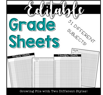 Simple Grade Sheets (growing file!)