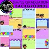 Simple Graduation Background Clipart: Graduation Clipart