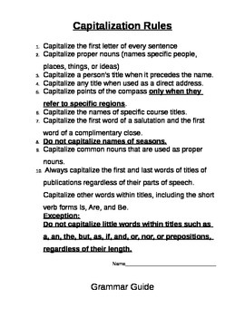 Simple Grammar Rules, Editing and Practice