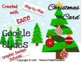 Simple Graphic Design Digital Christmas Ornaments & Trees Card - Google Slides