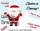 Simple Graphic Design Digital Christmas Santa Claus in Google Drawing or Slides