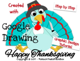 Graphic Design Digital Thanksgiving Turkey in Google Drawing or Slides