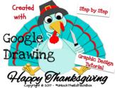 Graphic Design Digital Thanksgiving Turkey in Google Drawing or Slides