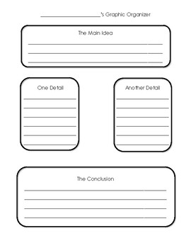 Simple Graphic Organizer - Lower Grades