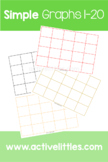 Simple Graphs 5 pages of 20 slots Printable - Active Littles
