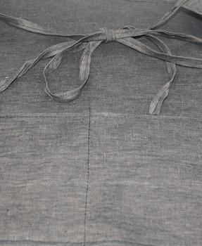 Classroom Teacher Utility Apron: Simple Gray Linen