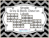 Simple Gray and Black Chevron Labels