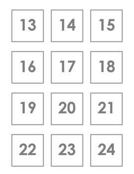 Simple Grey/white Calendar numbers