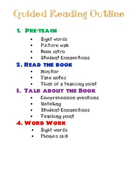 Simple Guided Reading Outline