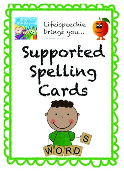 Simple Guided Spelling Cards