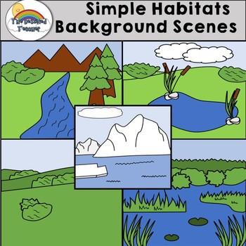Simple Habitat  Background Scenes Clipart
