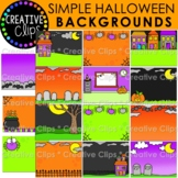 Simple Halloween Background Clipart: Halloween Clipart