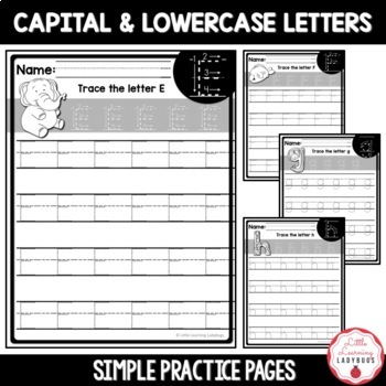 Simple Handwriting Practice Pages {Pre-Writing, Capitals, & Lowercase Letters}