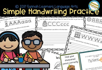 Simple Handwriting Practice Workbook
