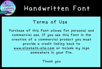 Simple Handwritten Font (Personal and Commercial Use)