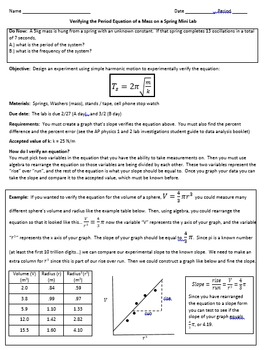 AP, Physics, Simple Harmonic Motion, Oscillations - Mass o