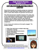 Simple Harmonic Motion Video Analysis Activity