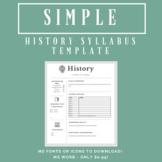 history syllabus teaching resources teachers pay teachers