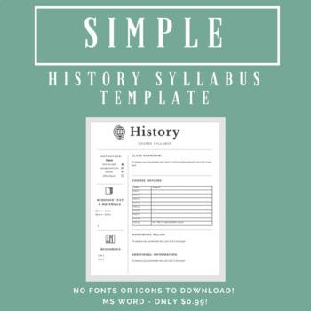 social studies syllabus template teaching resources teachers pay