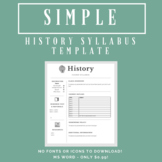 Simple History Syllabus Template