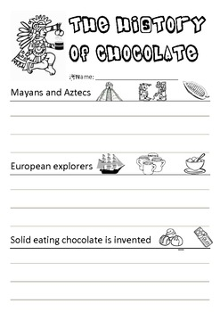 Simple History of Chocolate - Timeline Activity