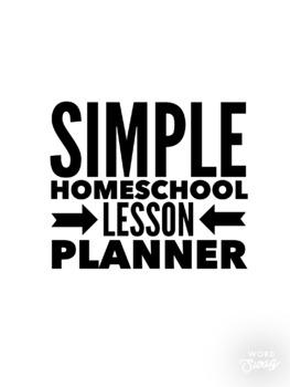 Simple Homeschool Lesson Planner