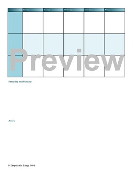 Simple Homeschool Planner Blue (Editable)