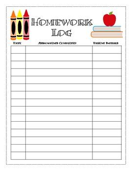 Simple Homework Log