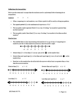 Simple Inequalities - Addition, Subtraction, Multiplication & Division Problems