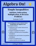 Simple Inequalities - Addition, Subtraction, Multiplicatio