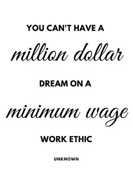 Simple Inspirational Poster - Work Ethic INKSAVER