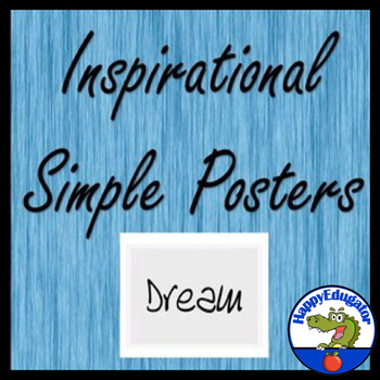 Simple Inspirational Posters Black and White