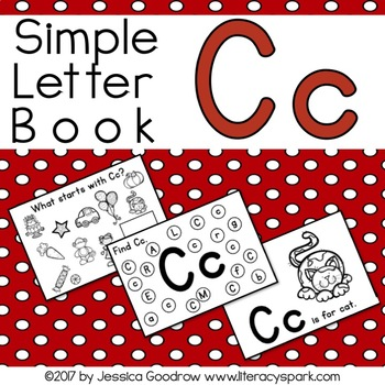 Simple Interactive Letter Book - Letter C