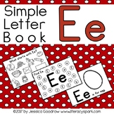 Simple Interactive Letter Book - Letter E