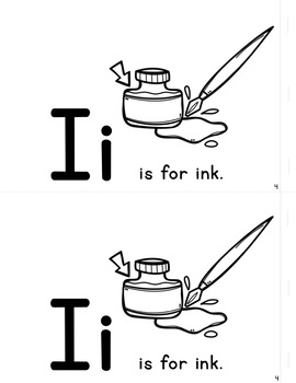 Simple Interactive Letter Book - Letter I