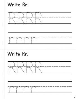 Simple Interactive Letter Book - Letter R