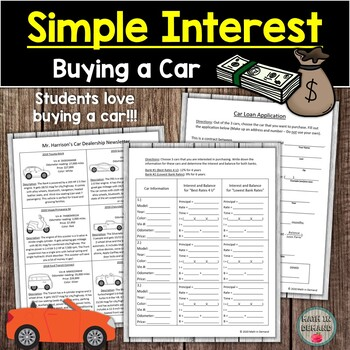 Simple Interest Activity (Buying a Car)