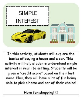 Simple Interest Activity