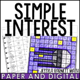 Simple Interest Activity | Coloring | Digital and Print